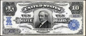 Picture of 1908 $10 Silver Certificate