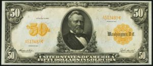 Picture of 1913 $50 Gold Certificate