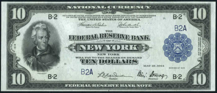 Picture of 1918 $10 Federal Reserve Bank Note