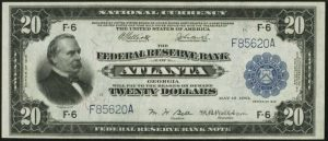 Picture of 1918 $20 Federal Reserve Bank Note