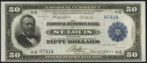 Picture of 1918 $50 Federal Reserve Bank Note