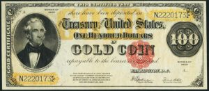 Picture of 1922 $100 Gold Certificate