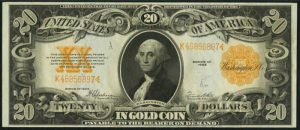 Picture of 1922 $20 Gold Certificate
