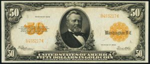 Picture of 1922 $50 Gold Certificate