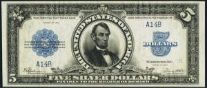 Picture of 1923 $5 Silver Certificate Value