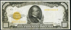 Picture of 1928 $1000 Gold Certificate