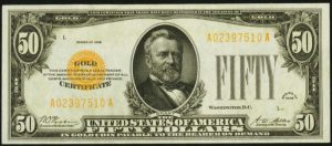 Picture of 1928 $50 Gold Certificate