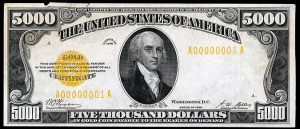1928 $5000 Gold Certificate Note Value