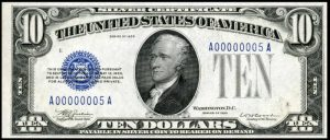 Picture of 1933 $10 Silver Certificate