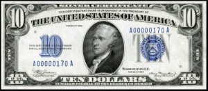 Picture of 1934 $10 Silver Certificate