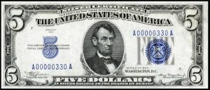 1934 $5 Silver Certificate Value