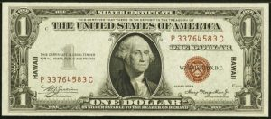 1935 $1 Hawaii Note Values