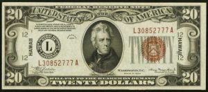 Picture of 1935 $20 Hawaii Note