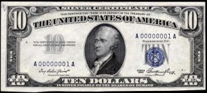 Picture of 1953 $10 Silver Certificate
