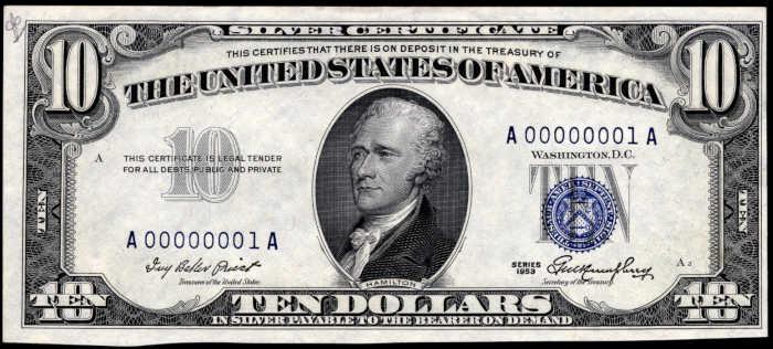 1953 $10 Silver Certificate Value