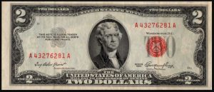 Picture of 1953 $2 Legal Tender
