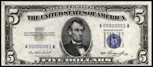 1953 $5 Silver Certificate Value