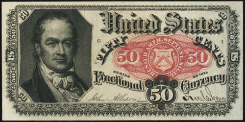 Fifth Issue Fifty Cents Fractional Currency Front