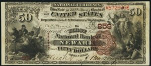 Picture of Fifty Dollar 1882 Brown Back National Bank Note