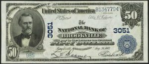 Picture of Fifty Dollar 1902 Blue Seal National Bank Note