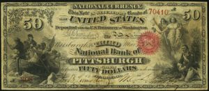 Picture of Fifty Dollar Original Series National Bank Note