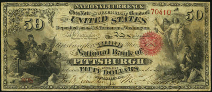 Fifty Dollar Original Series National Bank Note Value