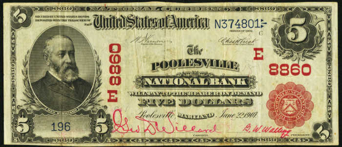 Five Dollar 1902 Red Seal National Bank Note Value