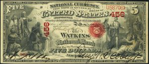 Picture of Five Dollar Original Series National Bank Note