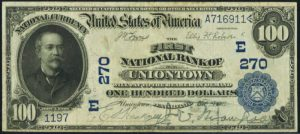 Picture of One Hundred Dollar 1902 Blue Seal National Bank Note