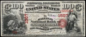 Picture of One Hundred Dollar Original Series National Bank Note