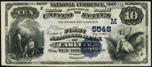 Picture of Ten Dollar 1882 Blue Seal National Bank Note