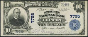 Picture of Ten Dollar 1902 Blue Seal National Bank Note