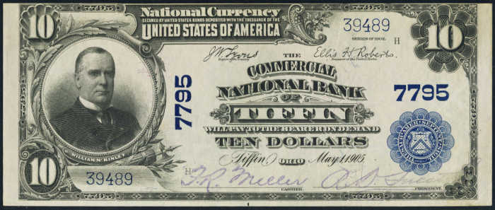 Ten Dollar 1902 Blue Seal National Bank Note Value