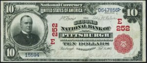 Picture of Ten Dollar 1902 Red Seal National Bank Note