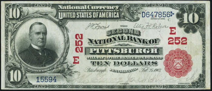 Ten Dollar 1902 Red Seal National Bank Note Value