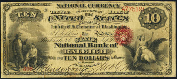 Picture of Ten Dollar Original Series National Bank Note