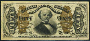 Third Issue Fifty Cents Fractional Currency Front
