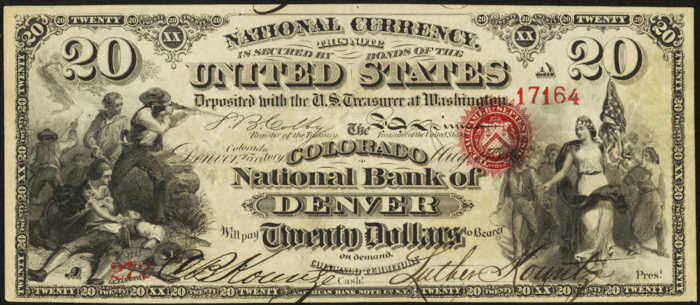 Picture of Twenty Dollar Original Series National Bank Note