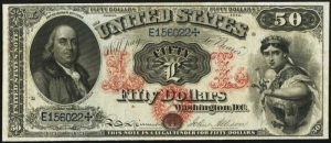 Picture of 1874 $50 Legal Tender