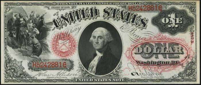 1875 $1 Legal Tender Value