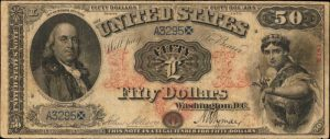 Picture of 1875 $50 Legal Tender
