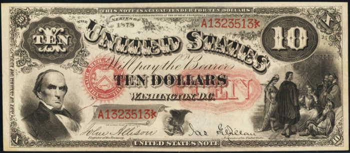 1878 $10 Legal Tender Value