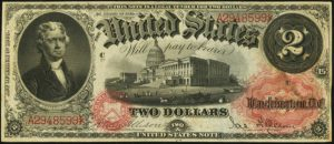 Picture of 1878 $2 Legal Tender