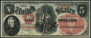 Picture of 1878 $5 Legal Tender