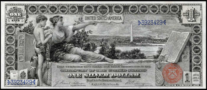 1896 $1 Silver Certificate Value