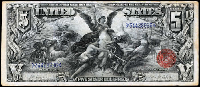 1896 $5 Silver Certificate Value