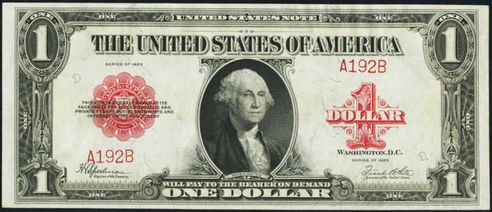 1923 $1 Legal Tender Value