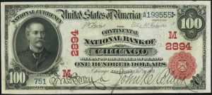 Picture of One Hundred Dollar 1902 Red Seal National Bank Note