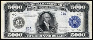 Picture of $5000 1918 Federal Reserve Note Value