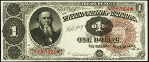 Picture of 1890 $1 Treasury Note